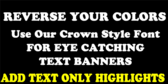 Crown Multi-Text Banner
