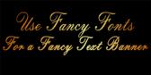 Fancy Text Banner