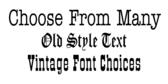 Vintage Text Design