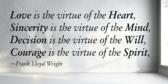 Famous Virtue Saying