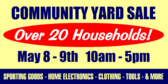 Community Yard Sale Over 20 Households!