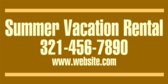 Summer Vacation Rental Web