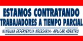 Employment Hiring Banner in Spanish