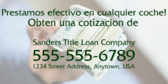 In Spanish Cash For Any Car Banner
