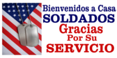 Spanish Welcome Home Service Dogtags Design Banner