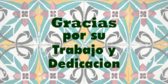 Spanish Thanks For Work Recognition Banner