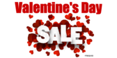 Valentines Day Heart Designed Sale Banner