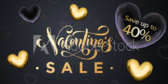 Valentine's Percent Off Sale Banner