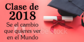 Class and Year Designed Spanish Graduation Banner