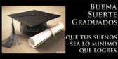 Spanish Good Luck Graduates Achievement Graduation Banner