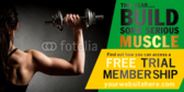 In Shape Body Building Banner