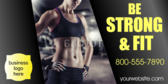 Be Strong Be Fit Banner