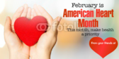 American Heart Month Banners