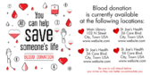 Help Save A Life Donate Blood Banner