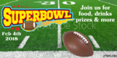 LII Superbowl Big Game Food and Drinks Banner