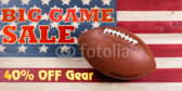 Big Football Game Sporting Goods Sale Banner