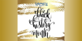 Gold Black History Month Announcement Banner