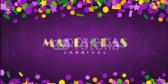 Mardi Gras Carnival Celebration Banner