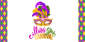 Mask Design Mardi Gras Party Banner