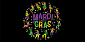 Colorful People Mardi Gras Party Banner