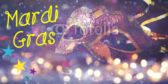 Photo-Quality Mardi Gras Announcement Banner