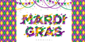 Colorful Mardi Gras Fun Banner