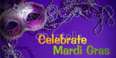 Party for Mardi Gras Celebration Banner