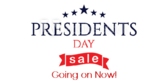 President's Day Sale Going On Now Banner