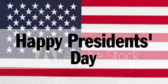 Happy Presidents Day Stars and Stripes Banner