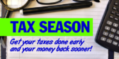 Tax Filing Early Banner