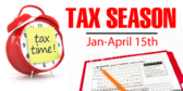 Tax Season Clock Design Banner