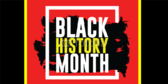 Red and Yellow Black History Month Banner