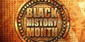 Black History Month Gold Emblem Banner
