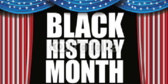 Black History Month On Stage Banner