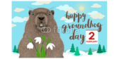 Funny Happy Groundhog Day Banner
