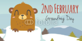 No Shadow Happy Groundhog Day Announcement Banner