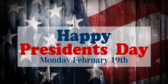 Happy President's Day Flag Banner