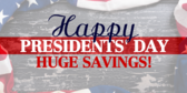 Happy Presidents Day Sale 2018 Banner