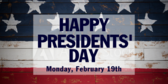 Happy Stars Presidents Day Announcement Banner