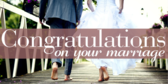 Wedding Day Congratulations Banner