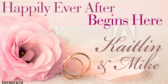 Happily Ever After Banner for Weddings