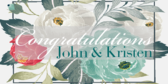 Wedding Congratulations With Rose Pedals Banner