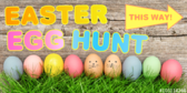 Colorful Easter Egg Hunt Directions Banner