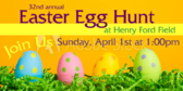 Easter Egg Hunt Announcement Banner