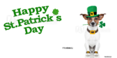 Happy St Patricks Day Dog Celebration Banner
