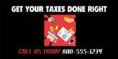 Get Taxes Done Right Banner