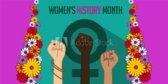 Women's History Month Power Fist Banner