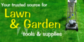 Lawn and Garden Tools Advertising Banner