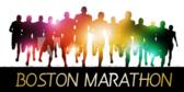 Boston Marathon Silhouette Runners Banner