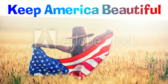 Keep America Beautiful Flag Banner